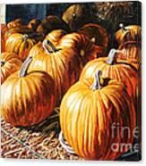 Pumpkins In The Barn Canvas Print