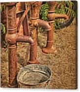 Pumps Gone Dry Canvas Print