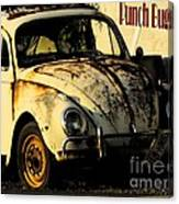 Punch Buggy Rust Canvas Print