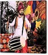 Punjabi Dhol Canvas Print
