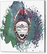 Punu Mask - Maiden Spirit Mukudji Canvas Print