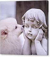 Puppy And Angel  Canvas Print