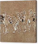 Puppy Brigade Canvas Print