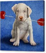 Puppy Lover... Canvas Print