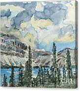 Pure North - Bow Lake Alberta Canvas Print
