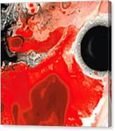 Pure Passion - Red And Black Art Painting Canvas Print