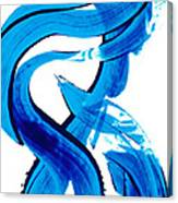 Pure Water 302 - Blue Abstract Art By Sharon Cummings Canvas Print