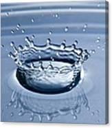 Pure Water Splash Canvas Print