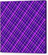Purple And Pink Diagonal Plaid Fabric Background Canvas Print