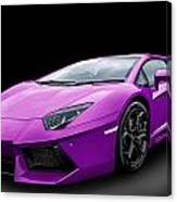 Purple Aventador Canvas Print