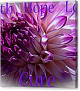 Purple Awareness Support Canvas Print