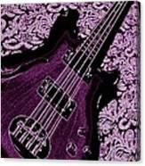 Purple Bass Canvas Print