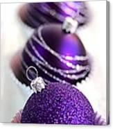 Purple Baubles Canvas Print