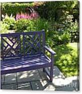 Purple Bench Canvas Print