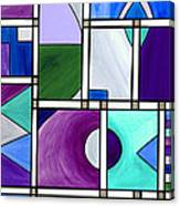 Purple -blue -green  Abstract 2 Canvas Print