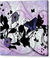 Purple Butterflies Canvas Print