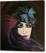 Purple Butterfly Canvas Print