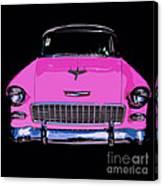 Purple Chevy Pop Art Canvas Print