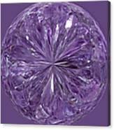 Purple Crystal Gem Canvas Print