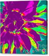 Purple Dahlia Pop Art Canvas Print