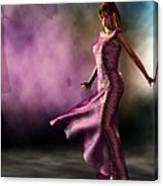 Purple Dancer Canvas Print