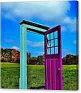 Purple Door - Alternate Reality - Canada Canvas Print