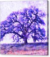 Purple Dreamtime Oak Tree Canvas Print