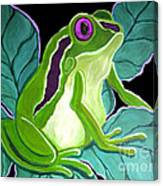 Purple Eyed Frog Canvas Print