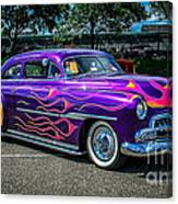 Purple Flame Canvas Print