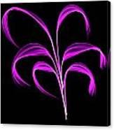 Purple Flaring Plant Canvas Print
