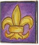 Purple Fleur De Lis Canvas Print
