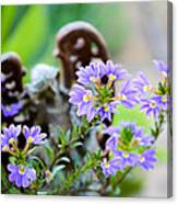 Purple Flowered Angel Canvas Print