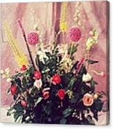 Purple Flowers My Design. Canvas Print