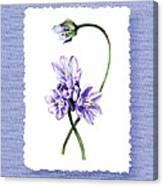 Purple Flowers Serenade Botanical Impressionism Canvas Print