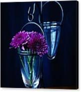 Purple Flowers Still Life Canvas Print
