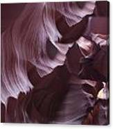 Purple Folds Canvas Print