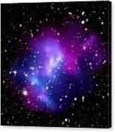 Purple Galaxy Cluster Macs J0717 Canvas Print