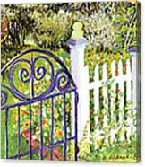 Purple Garden Gate Canvas Print