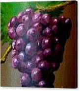 Purple Grapes On Terra Cotta Canvas Print