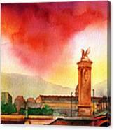 Purple Heat Canvas Print