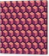Purple Hexagonal Pattern Canvas Print