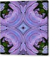 Purple Hydrangea Flower Abstract 2 Canvas Print