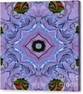 Purple Hydrangea Flower Abstract Canvas Print