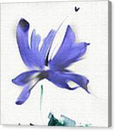 Purple Iris In The Greenery Canvas Print