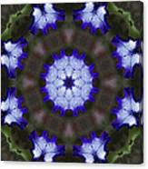 Purple Iris Kaleidoscope Canvas Print