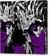 Purple Mask Canvas Print