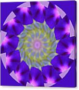 Purple Morning Glory Kaleidoscope Canvas Print