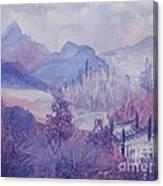 Purple Mountains Fantasy Canvas Print