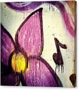 Purple Paint One Canvas Print