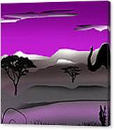 Purple Parkland Canvas Print